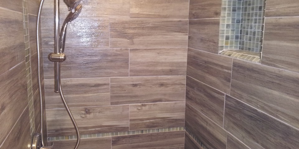 Bamboo And Glass Tile Bathroom Remodel Four Star